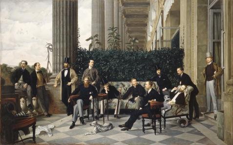 Janes Tissot: Le Cercle de la rue Royale, 1868. Wikimedia